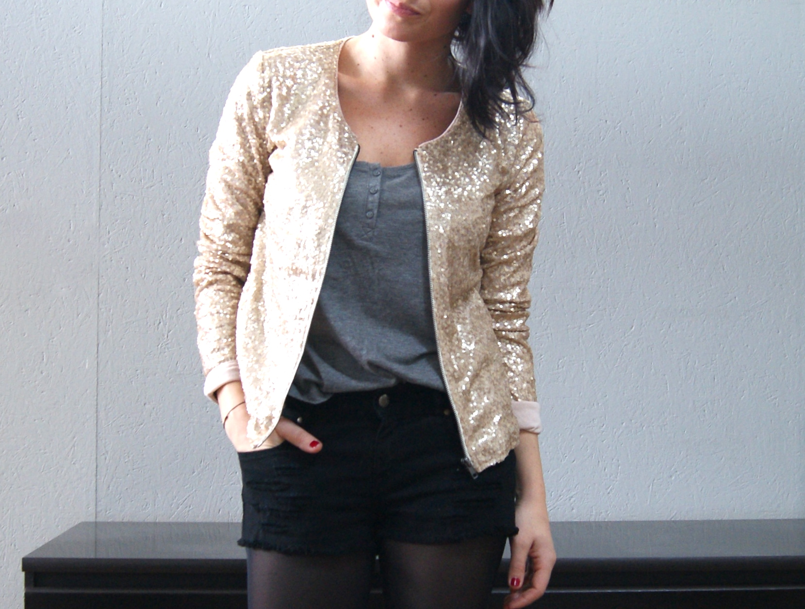 bizzbee veste  sequins 