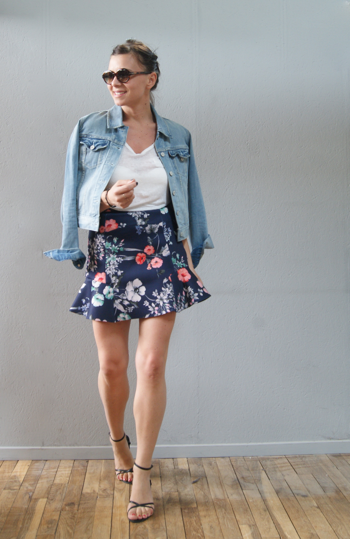 jupe a fleurs aur lie malau blog mode beaut lifestyle. Black Bedroom Furniture Sets. Home Design Ideas