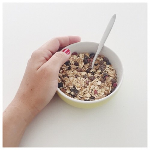 Muesli bonne journe! breakfast yummy