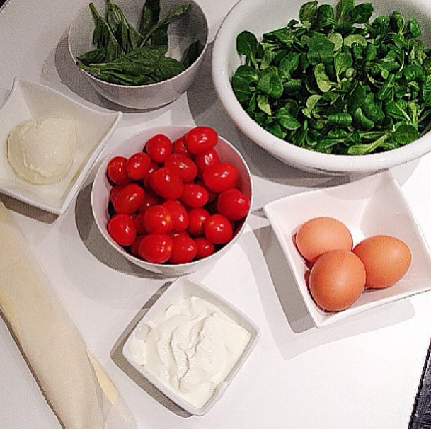 quiche tomate mozza basilic