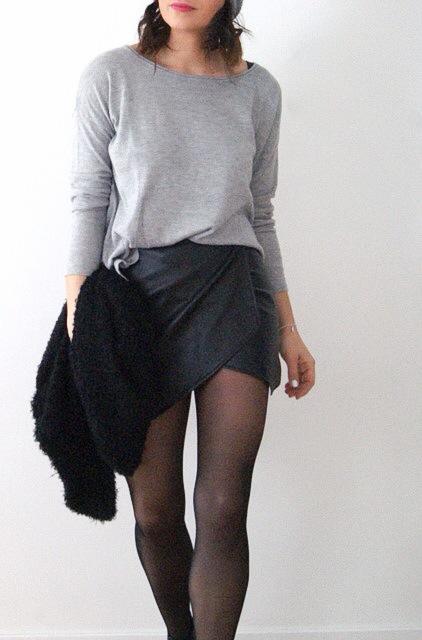 mini jupe porte feuille