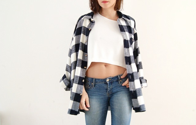 top cropped zara