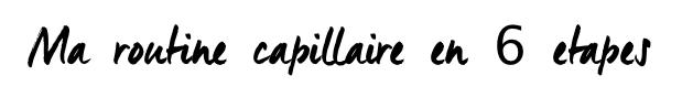 routine capillaire