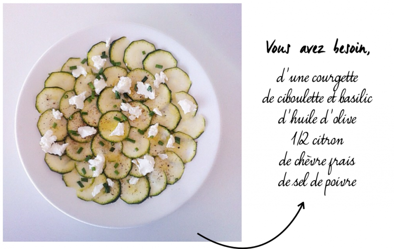 carpaccio de courgettes