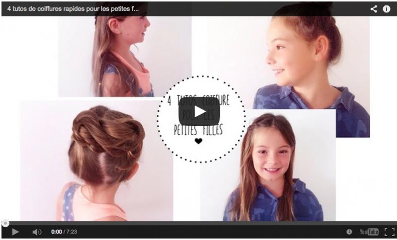 tutos coiffure pour les petites filles