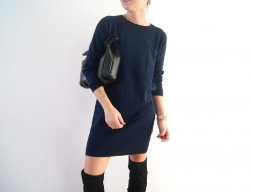 robe pull bleu marine  Aurélie malau