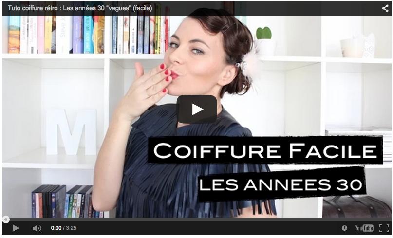 COIFFURE DES ANNéES 30 (VAGUES) SIMPLE ET FACILE A FAIRE
