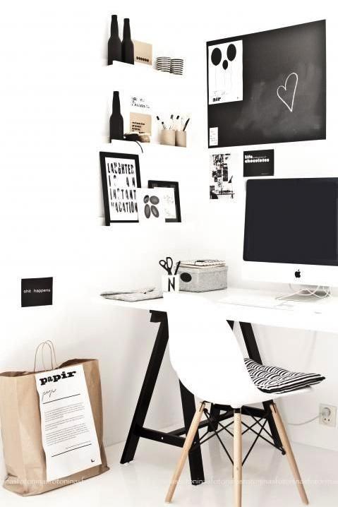 bureau blanc pieds noirs