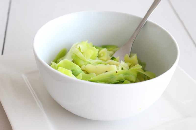 spaguettis courgettes