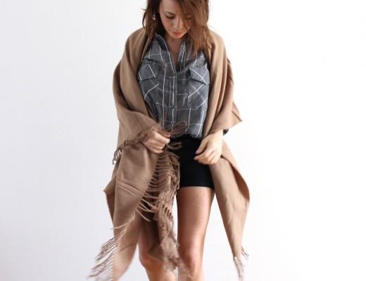 poncho camel asos Aurélie malau