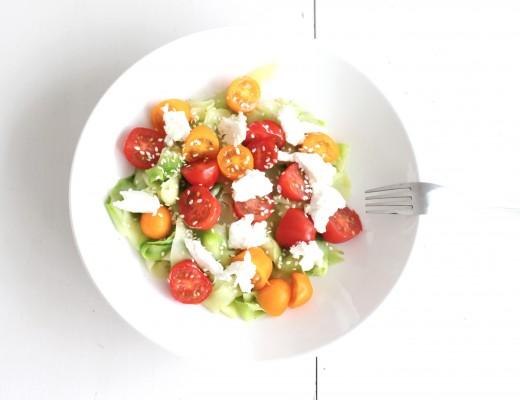 salade fraiche courgettes