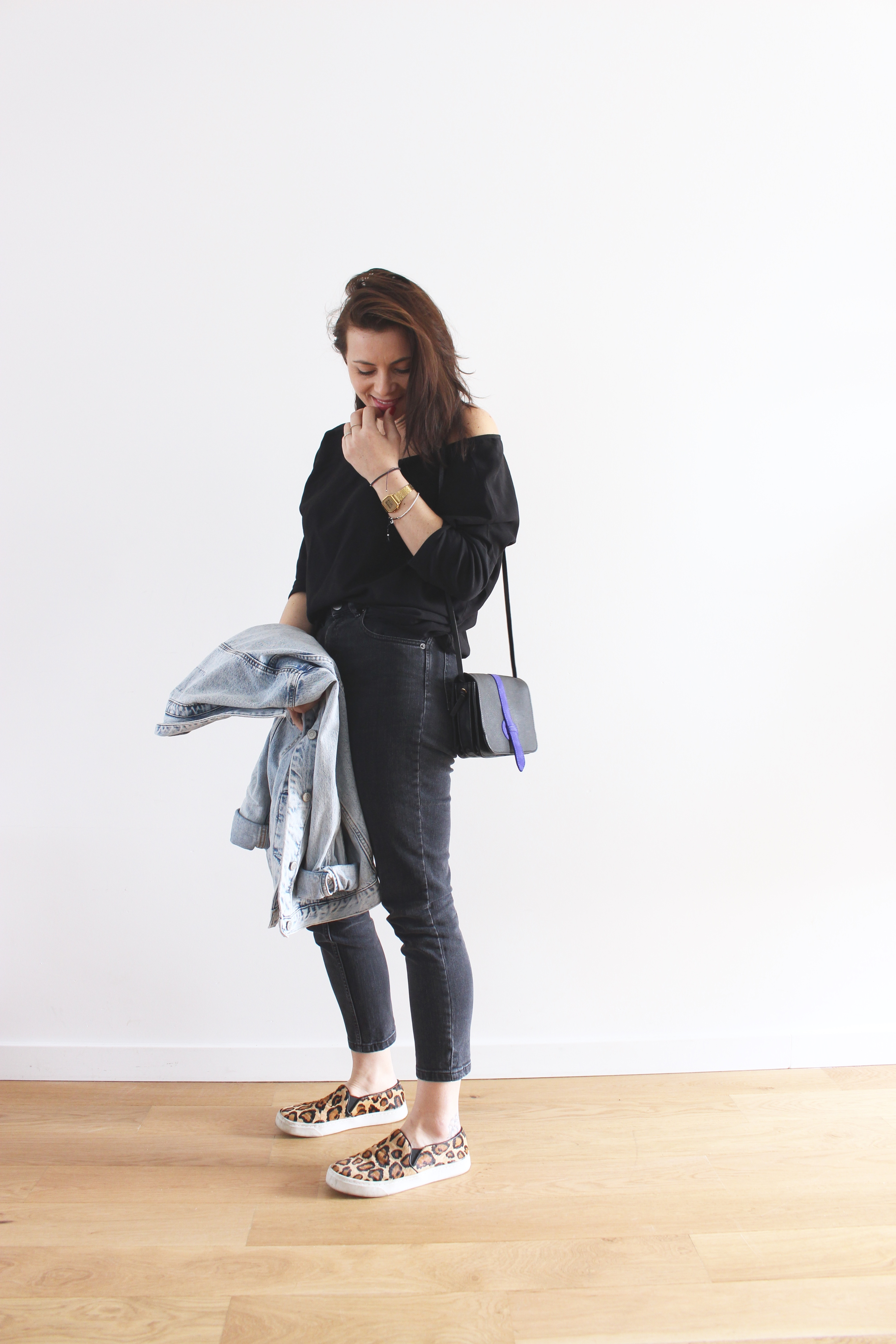 jean taille haute noir asos