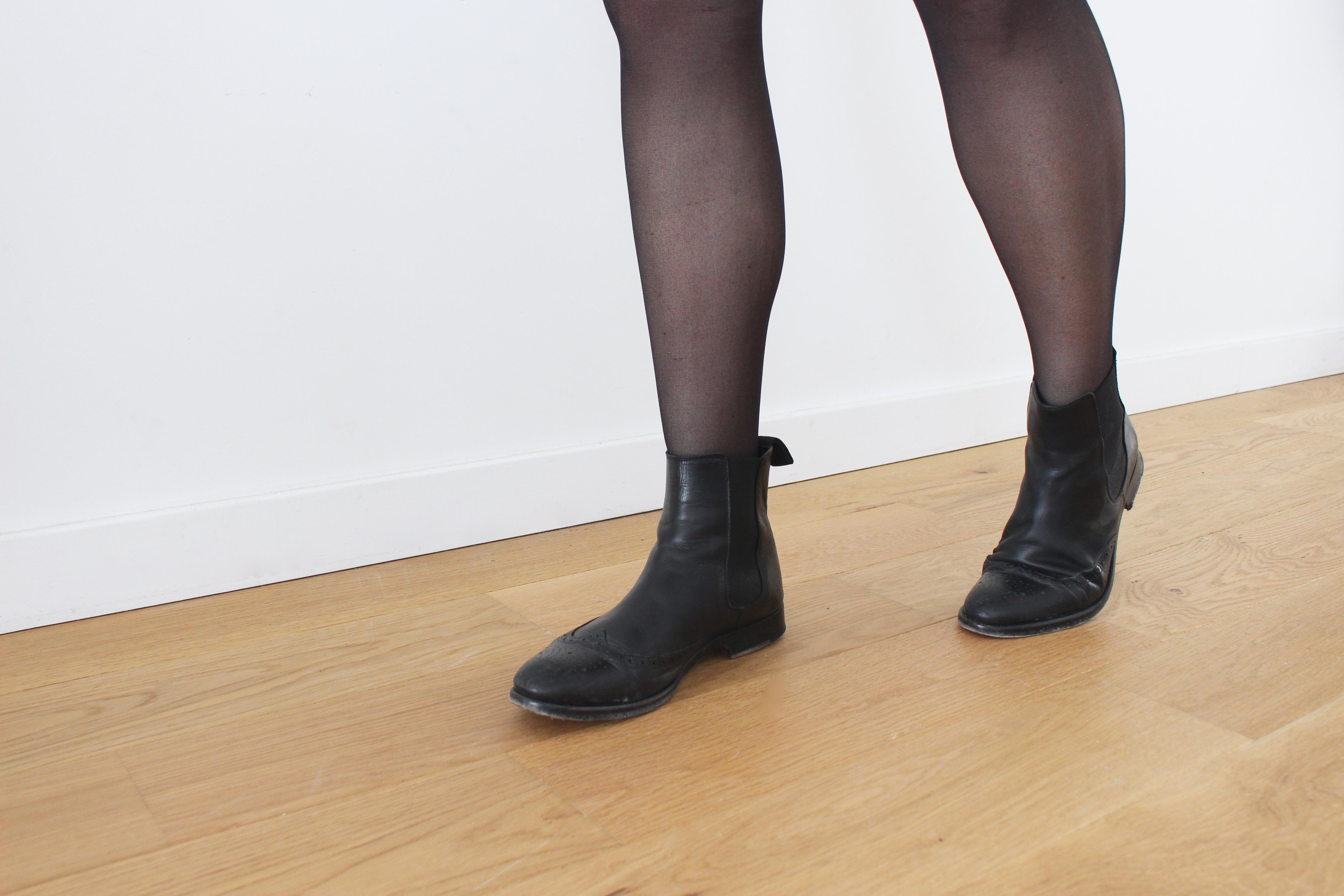 bottines noires basses