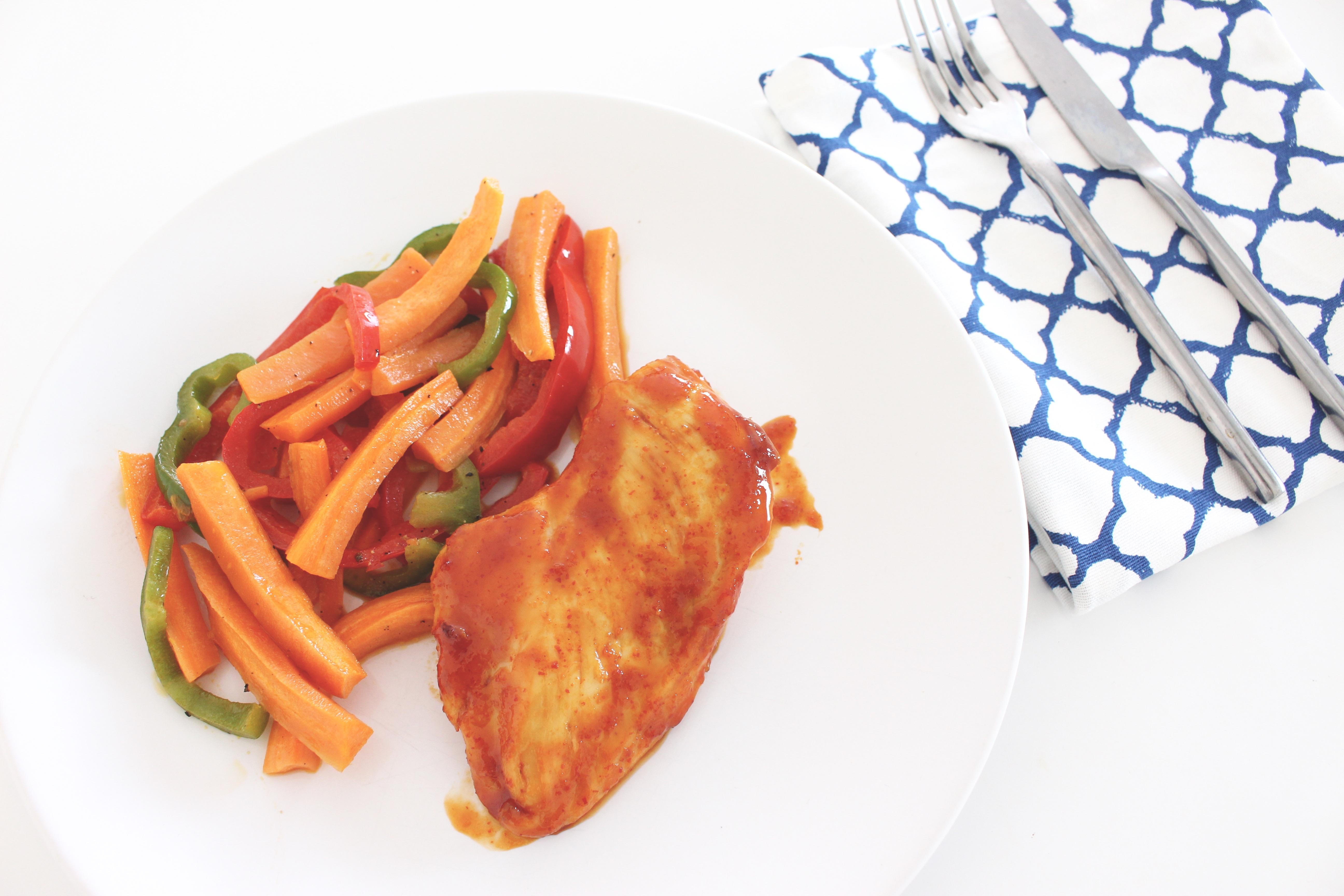 poulet sauce sriracha