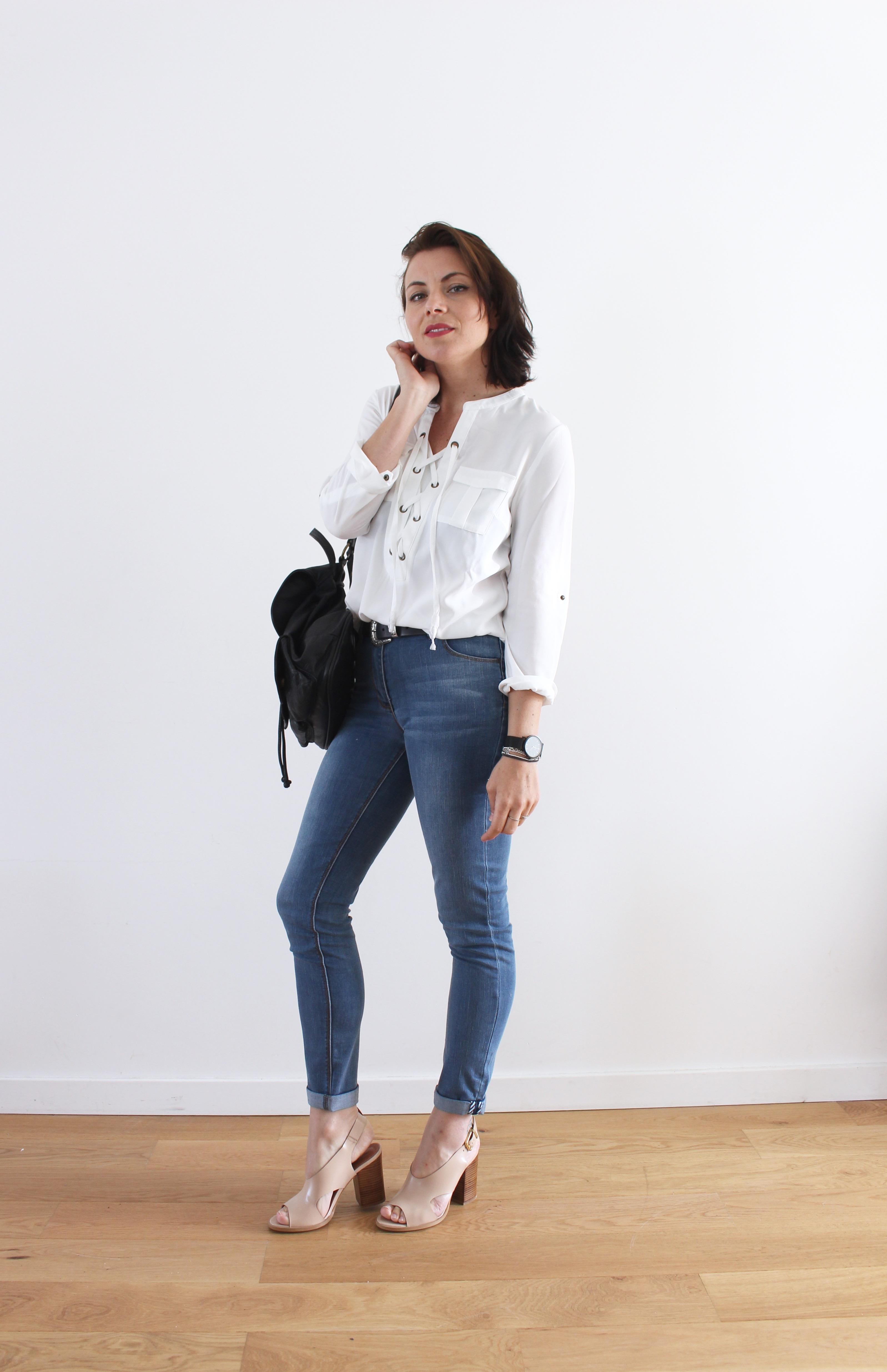 elora look blouse blanche lacet