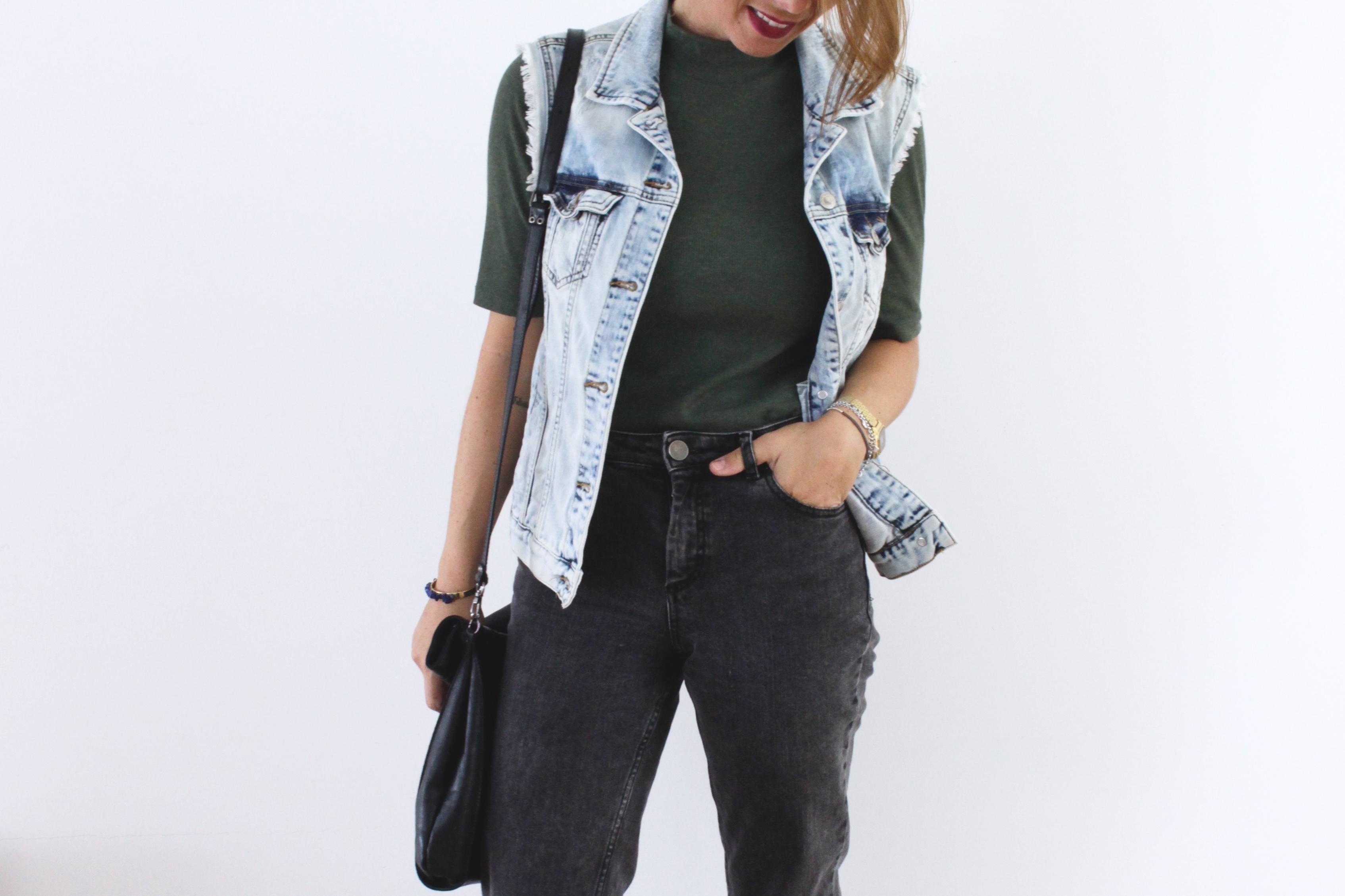 veste en jean sans manches blog mode