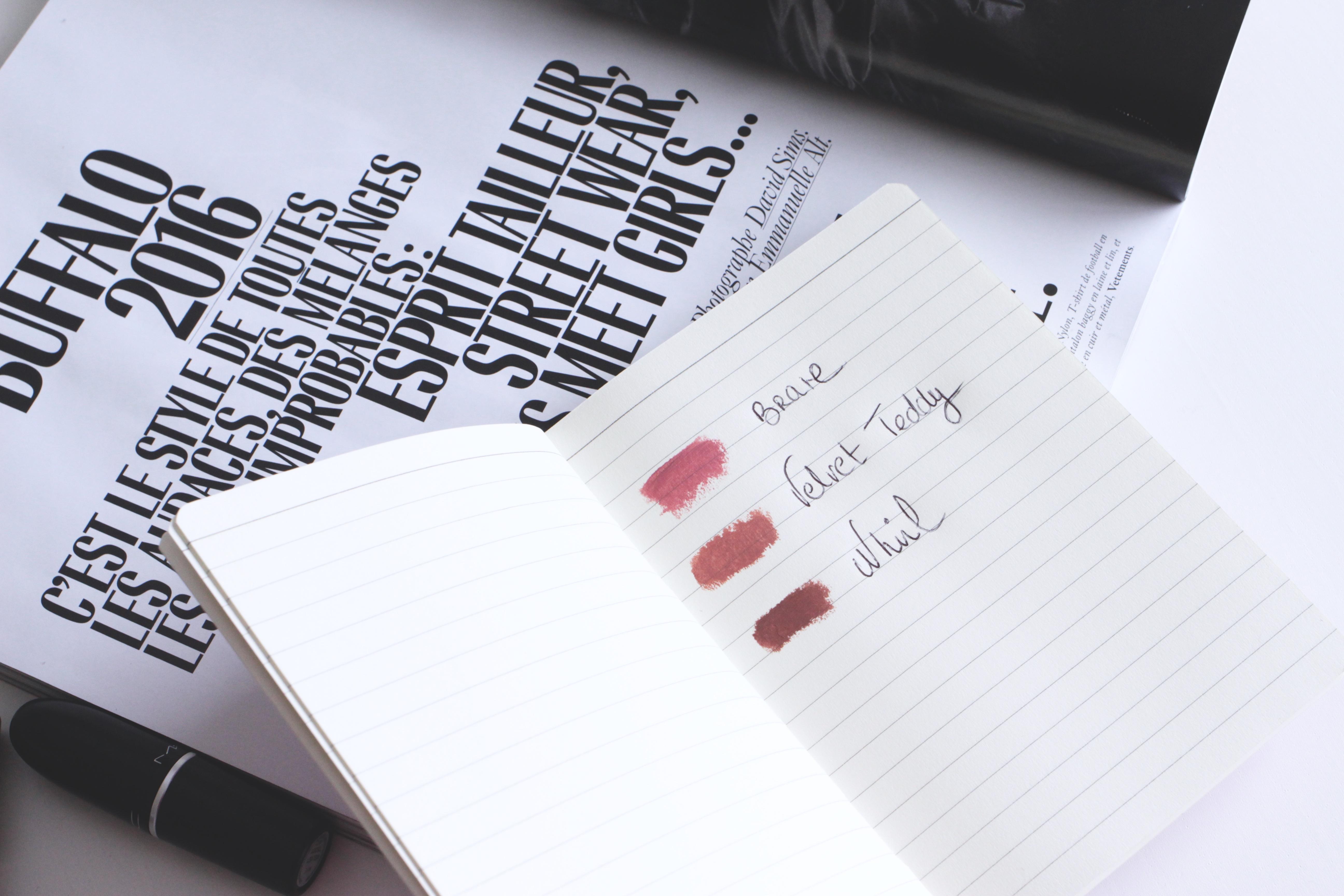 swatchs rouge à lèvres MAC Nudes