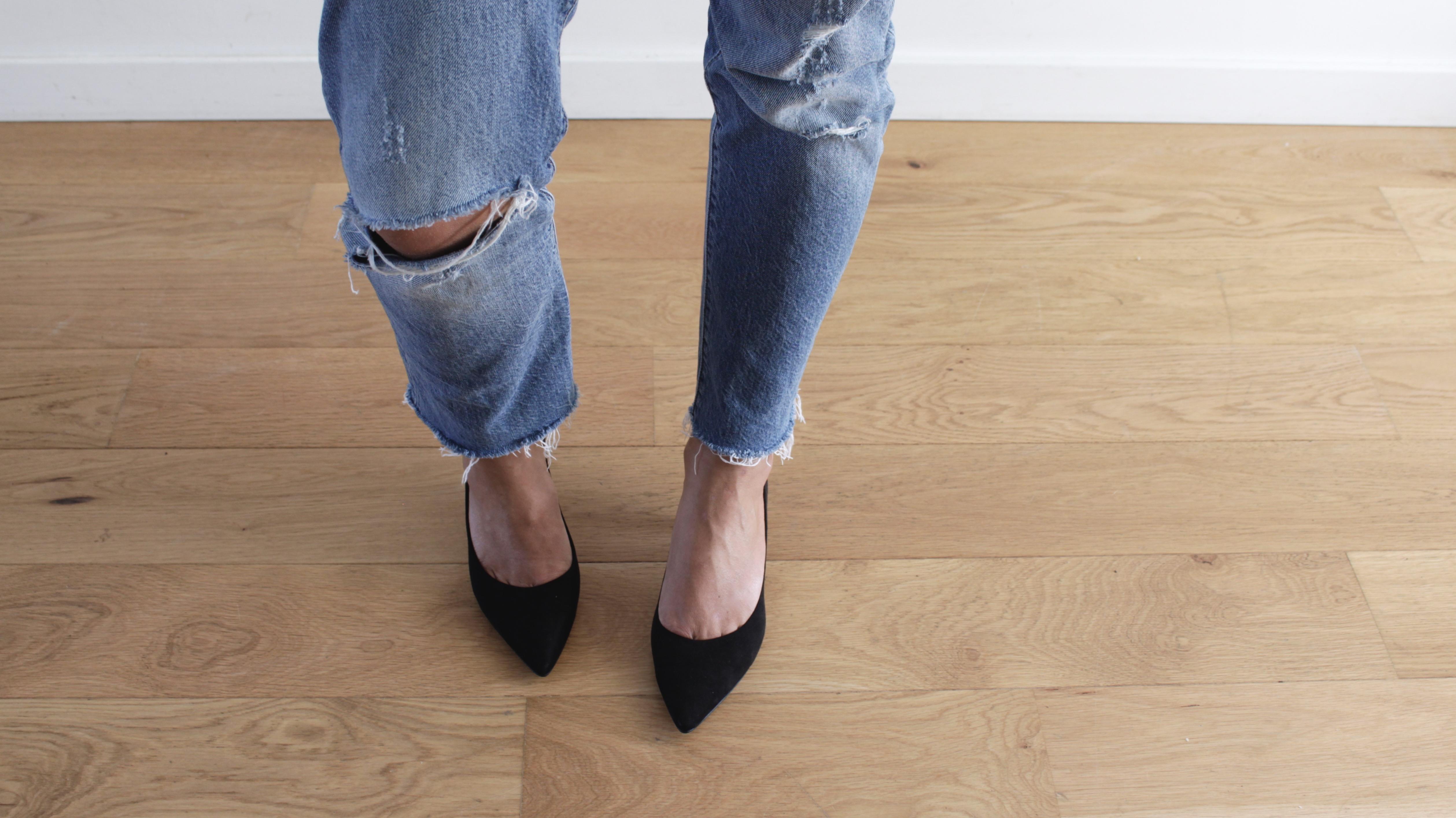 petits talons escarpins noirs