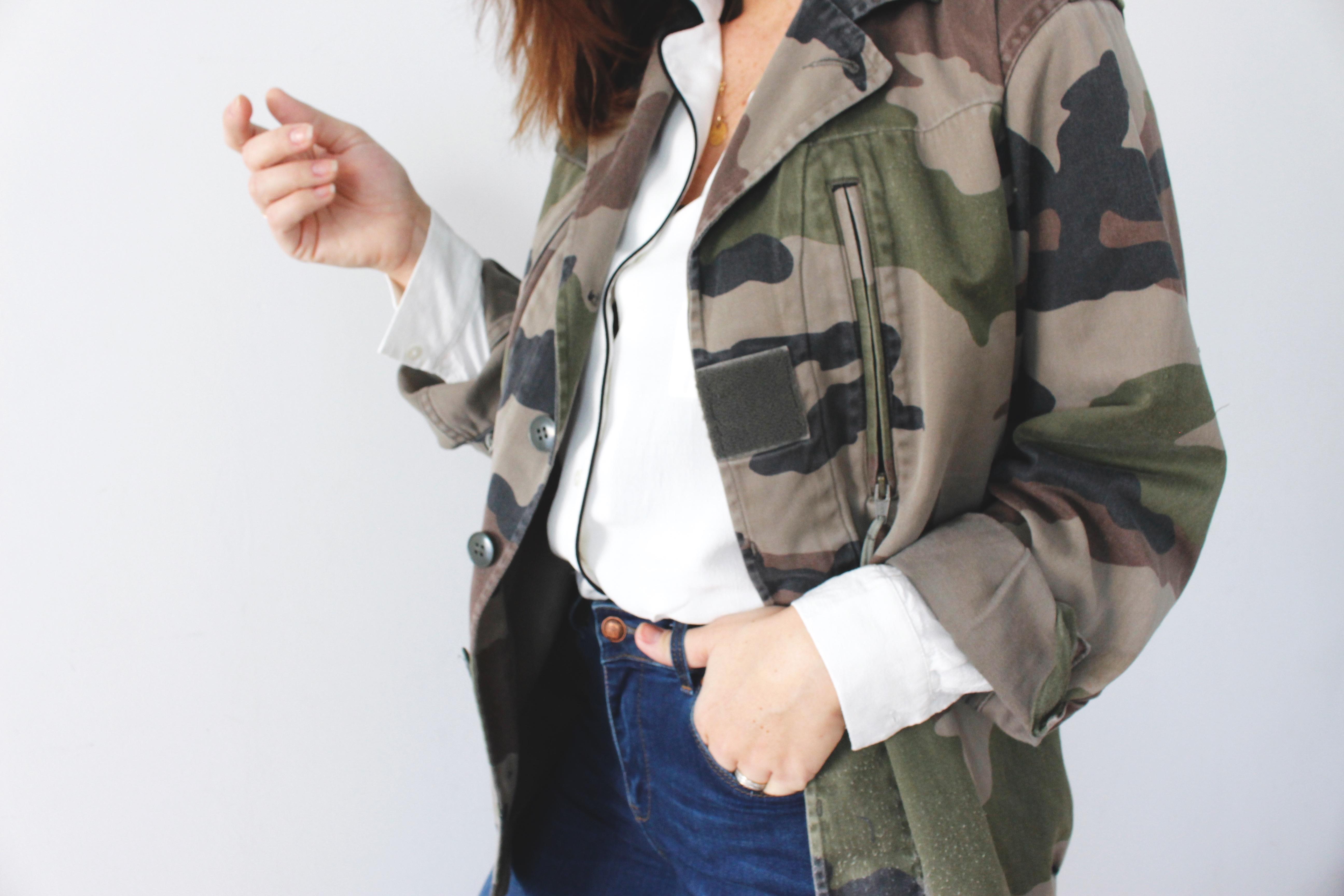 veste militaire vintage blog mode
