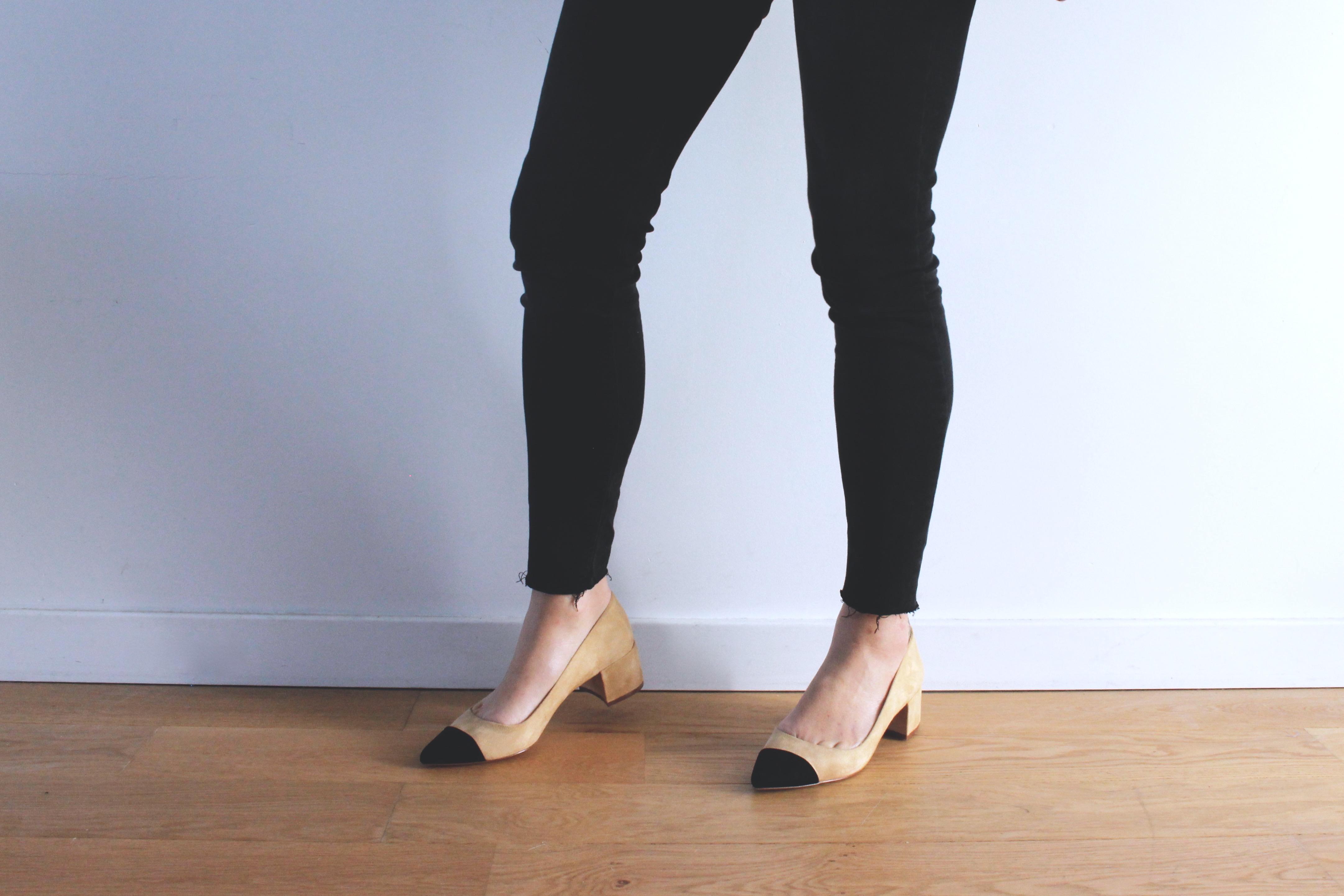 chaussure zara bout noir