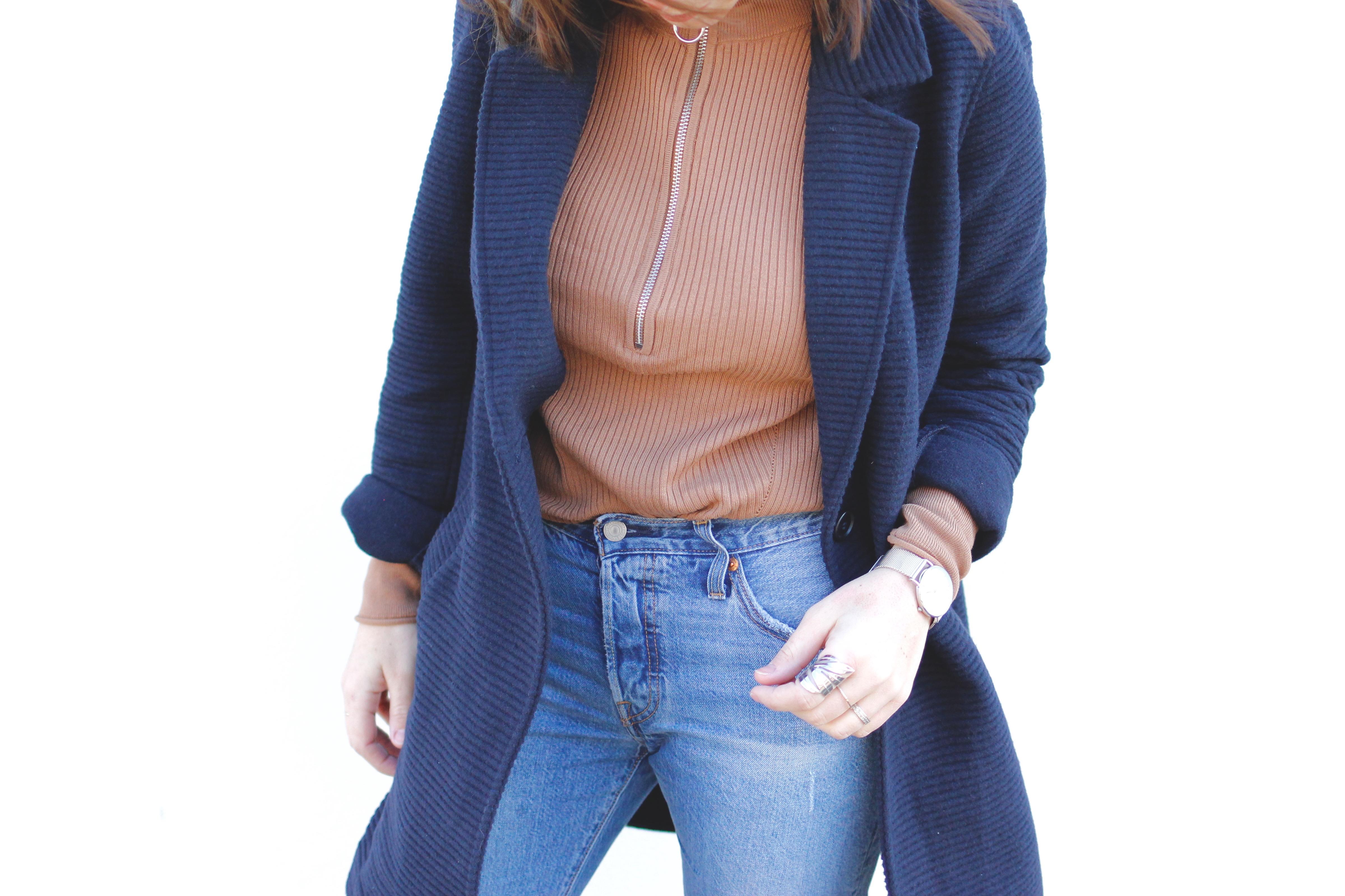 veste en laine bleu marine grain de malice