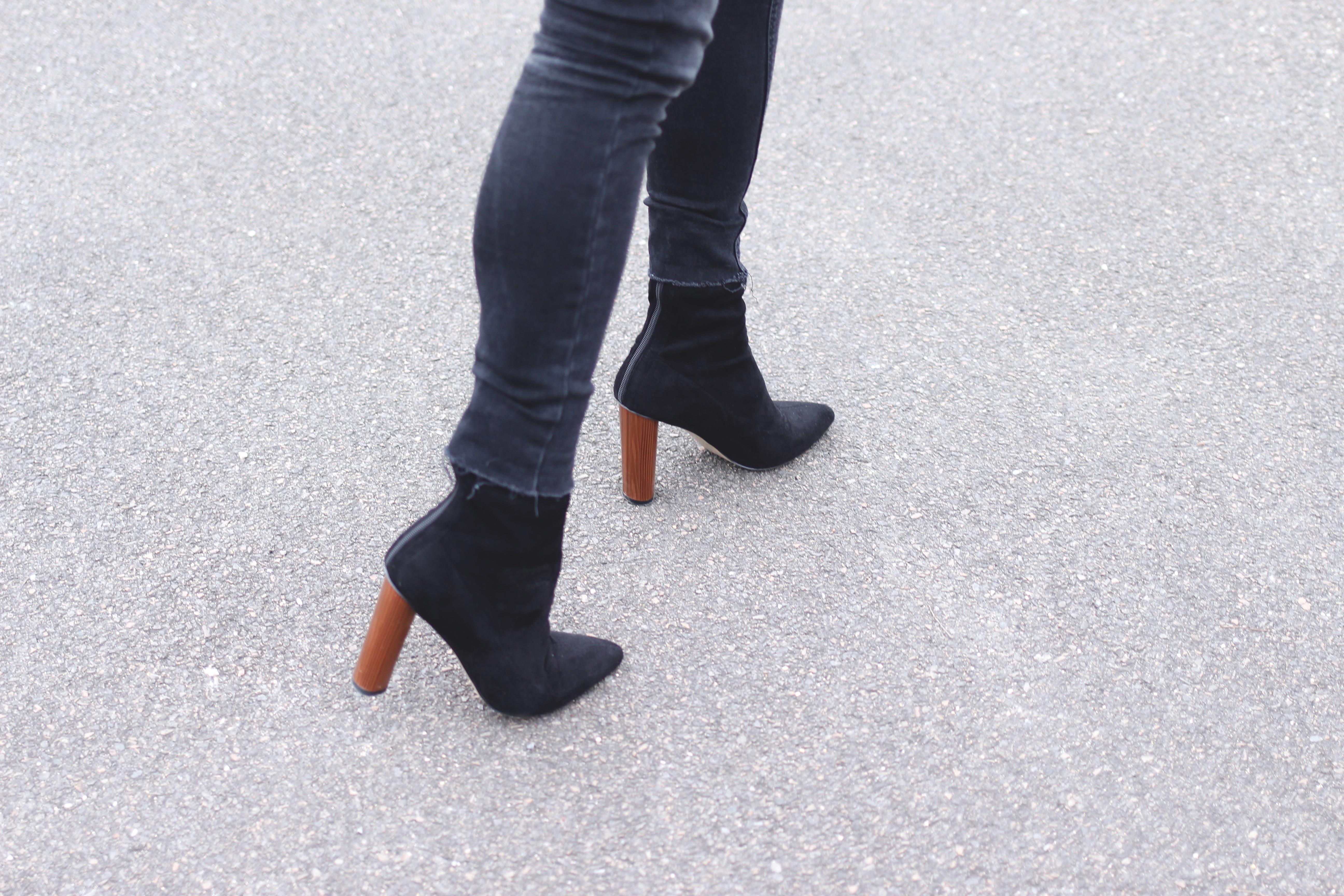 bottines à talons noires 12cm