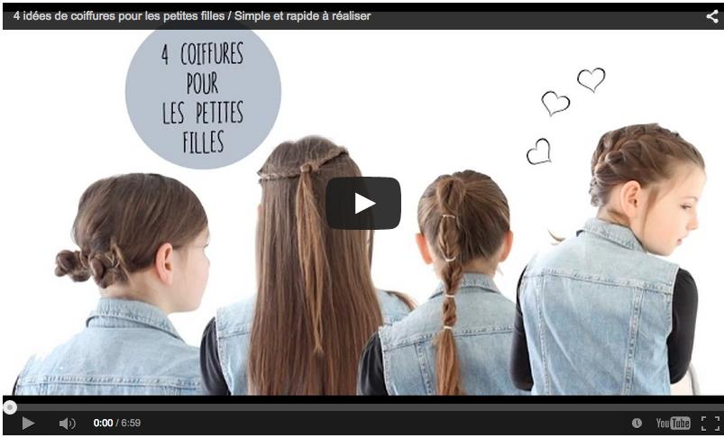 4 Coiffures Simples Et Rapides A Faire Pour Les Petites Filles